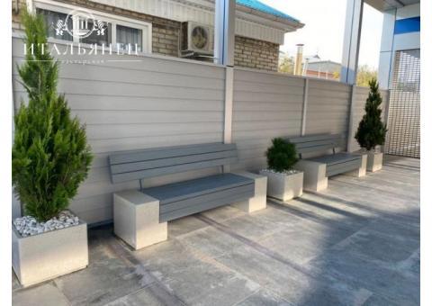 Продаем скамейки из дерева, металла, бетона в Крыму от производителя